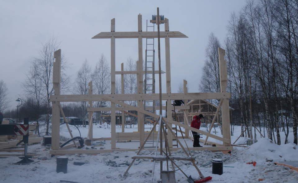 Строительство домов фахверк идет в
