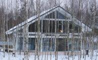 Коттедж по проекту OHV-1(255) главный фасад