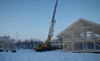 Готовый каркас на участке 15 для проекта OHV-3(215)