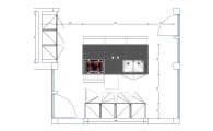 План кухни Boffi для коттеджа фахверк OHV-2(336)