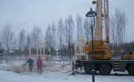 Сборка каркаса фахверк в поселке OSKO-VILLAGE