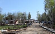 Вид на коттеджи фахверк по Вязовой улице