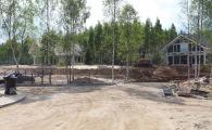 Вид на 21 и 23 участки в поселке фахверк OSKO-VILLAGE
