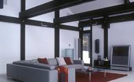Уютная стеклянная гостиная