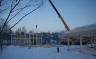 Строительство каркаса фахверк на участке 17