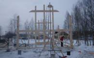 Строительство домов фахверк идет в любую погоду