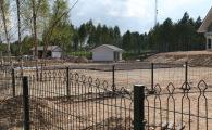 Ограждение участков в поселке фахверк высотой 1,2 м