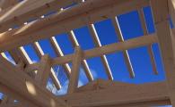 Каркас фахверк - сложное сооружение из клееной древесины