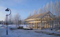 Поселок OSKO-VILLAGE построен в стиле фахверк