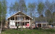 Современный коттедж фахверк строится в поселке OSKO-VILLAGE