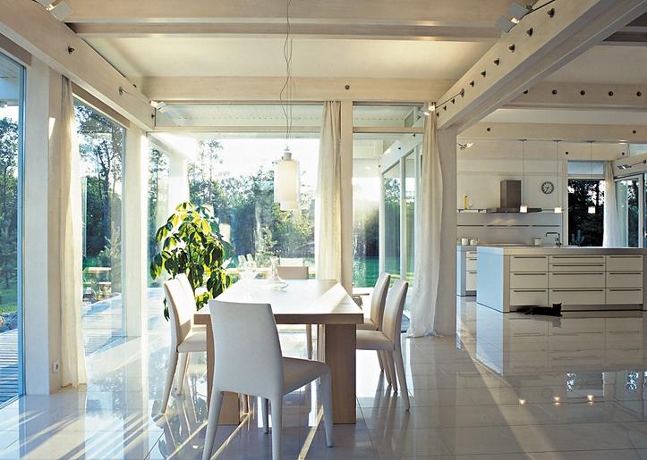 Дизайн интерьера загородного дома в стиле фахверк